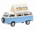 VW Volkswagen T2a Light Blue White -  Licht blauw wit Camper 1/43