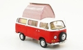 VW Volkswagen T2 a Red White - Rood Wit Camper Mobile home 1/43