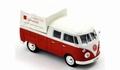 VW Volkswagen 1961 Dubbel cabine Red White - Rood Wit 1/43