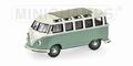 VW Volkswagen T1 Samba bus Green Groen 1/43