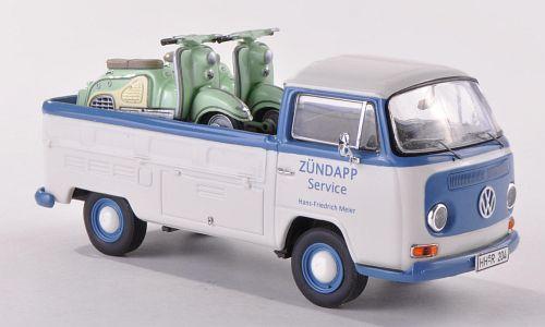 VW Volkswagen T2 a Zundapp Service  Pick up bus + moto 1/43