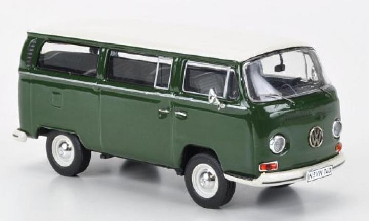 VW Volkswagen T 2 a bus L Green Groen  1/43