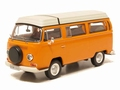 VW Volksagen T2 a Camper Mobile home Orange Oranje 1/43