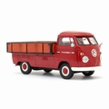VW Volkswagen T1  Porsche Pick up Red + Wood Rood + Hout 1/43