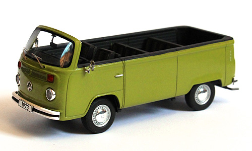 VW Volkswagen T2 b open air bus Green Groen 1/43
