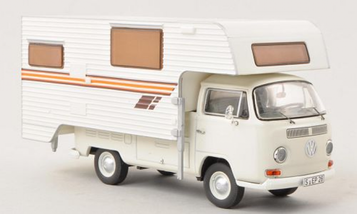 VW Volkswagen T2 a Camper Mobile home White Wit 1/43