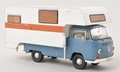 VW Volkswagen T2 a Camper Mobile home Blue White Blauw Wit 1/43