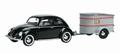 VW Volkswagen Brenzel kever + aanhangwagen trailer 1/43