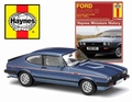 Ford Capri  lll Blue Blauw + book boek all models 1978 -1987 1/43