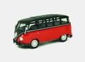VW Volkswagen Samba  T1 Bus Red Black   Rood Zwart 1/43