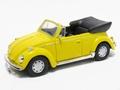 VW Volkswagen Beetle Cabrio Yellow Geel  1/43