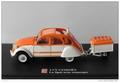 Citroen  2 cv La Spot avec remorque met aanhangwagen trailer 1/43