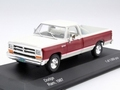 Dodge Ram  1987  White red  Wit  rood Pick up  1/43