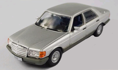 Mercedes Benz 500 SE W126 1979  zilver silver 1/43