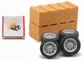 Banden + velgen en kisten Wheels and tires + box 1/43