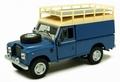 Land Rover series III 109 Blue Blauw van roofrack 1/43