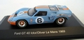 Ford GT 40 #6 Ickx/Olivier Le Mans 1969 Gulf Blue Orange 1/43