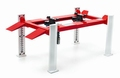 Four post lift werk brug wit-rood  white-red 1/18
