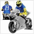 Figuur figurine Valentino Rossi Moto GP 2006 Sachsenring 1/12