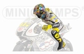 Figuur figurine Valentino Rossi Moto GP 2010 Laguna Seca 1/12