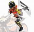 Figuur figurine Valentino Rossi Moto GP Philip Island 2003 1/12