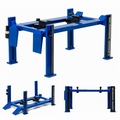Four post lift werk brug Blauw Zwart Blue Black