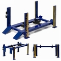 Four post lift werkbrug blauw geel Blue yellow Chevrolet 1/18