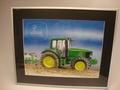Poster tractor John Deere met ploeg