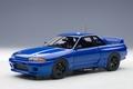 Nissan Skyline  GT-R R32 Blauw bayside blue  1/18