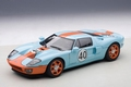 Ford GT Gulf oranje blauw orange blue # 40 1/18