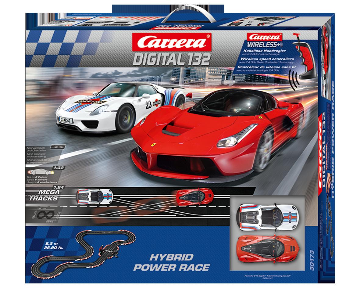 Carrera Hybrid  Power Race digitaal met draadloze regelaars 1/32