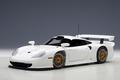 Porsche  911 GT1 1997 wit plain white 1/18