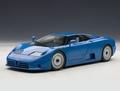 Bugatti EB 110 GT  Blauw Blue 1/18
