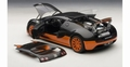 Bugatti Veyron 16,4 super sport zwart/oranje  black/orange  1/18
