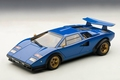 Lamborghini Countach LP 500 S  blauw  blue 1/18