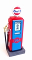 Gulf gas pump retro fuel benzine pomp 1/18