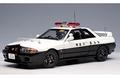 Nissan Skyline GTR R32 Police car Kanagawa - Kenkei 1/18