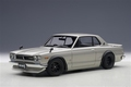 Nissan Skyline GT-R Tuned version silver  zilver 1/18