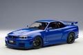 Nissan Nismo R34 GT-R -Z Tune  Blauw Bayside Blue 1/18