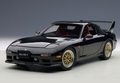 Mazda RX 7 Tuned version Zwart brilliant Black  1/18
