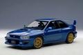Subaru Impreza 22B-STI upgraded version Blauw  Blue 1/18