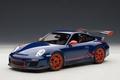 Porsche 911 997 GT3 RS 3,8 Blauw Blue 1/18
