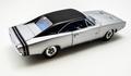 Dodge Charger R/T 1968 HEMI Ziver + zwart  Silver  1/18