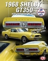 Ford Shelby Mustang GT500 KR 1968 Geel Yellow 1/18