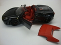 Ferrari F430 spider zwart Dytona black 506 Cabrio+ softtop 1/18