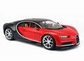 Bugatti  Chiron Rood Zwart  Red Black 1/18