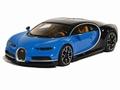 Bugatti Chiron Blauw Zwart  Blue Black 1/18