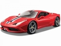 Ferrari 458 Speciale Rood Red + striping 1/18