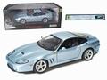Ferrari 575 M Maranello Zilver Blauw  Silver Blue 1/18