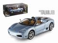 Ferrari 360 Spider Zilver blauw Silver Bliue 1/18